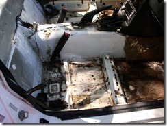 24 Carpet gone - passenger side